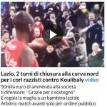 La notizia sull'home page di Repubblica