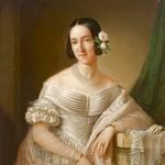 Maria Cristina di Savoia, olio su teka