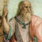 Platone particolare dea La scuola di Atene, Raffaello Sanzio