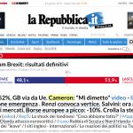 Repubblica home page