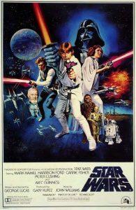 Il manifesto originale di Star Wars I, 1977, di George Lucas