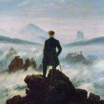Il Viandante sul mare di nebbia di Caspar David Friedrich, 1818.