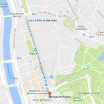 Percorso da villa Giulia a Piazza del Popolo