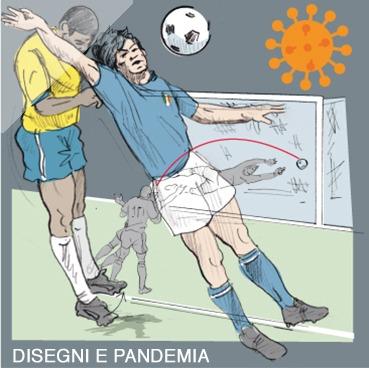 Calcio, disegni e pandemia
